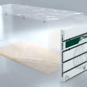 Revêtement de conteneur de déchargement sous vide SeaBulk® avec angles gonflables